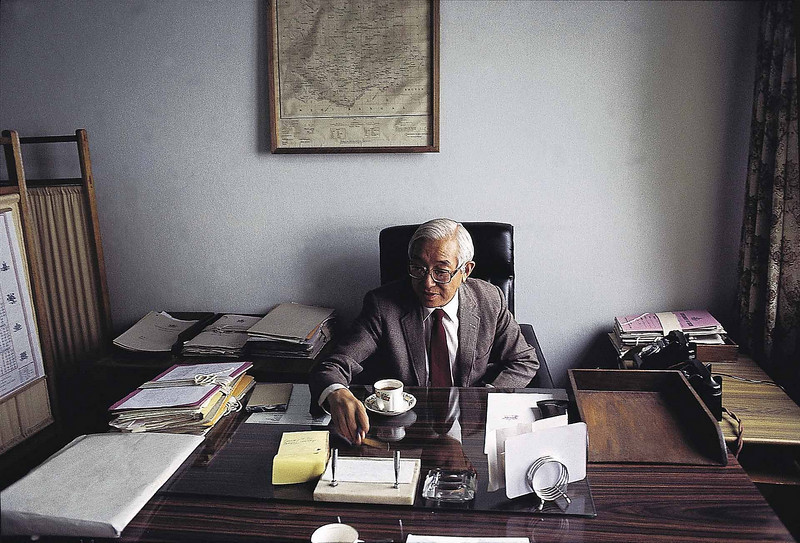 JIgdal Densapa at his office in Tashiling Gangtok 1992