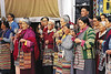 Women pray at the Queen Mother's funeral, Tsulakhang, Gangtok, March 1987