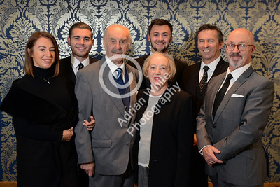 Silcox Family Funerals Llanelli. from left, Caitlin Silcox, Jordan Sullivan, Malcol and Mary Silcox, Callum Silcox, Jonathan Richards and Paul Silcox