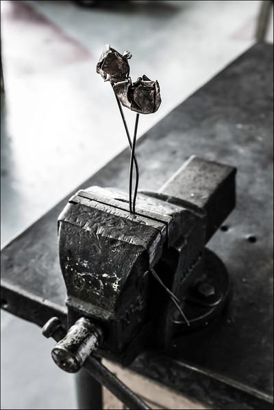 Metal Flowers, 2016. ©Luke Potter