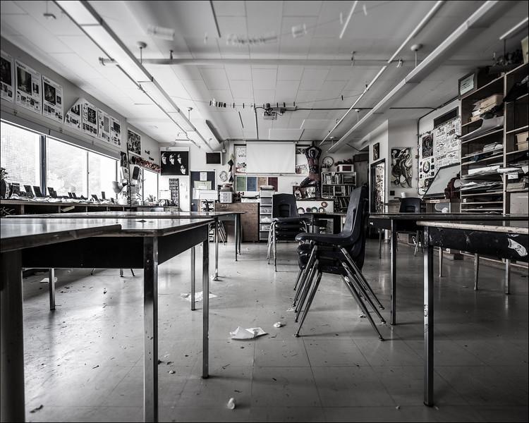 Art Classroom, 2016. ©Luke Potter