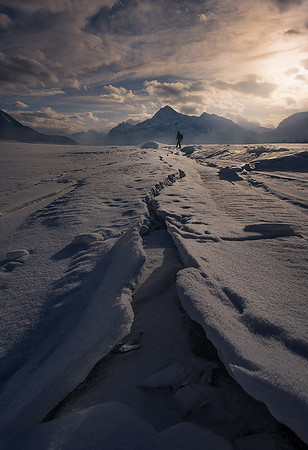 Walking over the ice