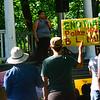 KRISTOPHER RADDER — BRATTLEBORO REFORMER<br /> Question Ricardo talks to several hundred people during a Black Lives Matter silent protest at the Brattleboro Common, in Brattleboro, Vt., on Friday, June 12, 2020.
