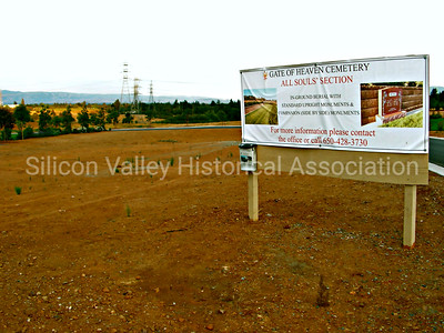 Gate of Heaven Cemetery All Souls' Section signage advertising new plots in 2009