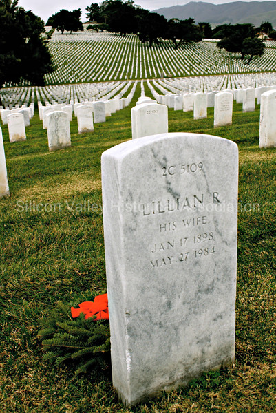 Golden Gate National Cemetery: A Wife's Grave at Christmastime
