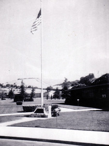 Flag flying in honor of Berlin Gardner at Oak Hill Memorial Park in San Jose, California