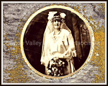 Caterina Viscuso ceramic bridal photo on a grave at the Italian Cemetery in Colma