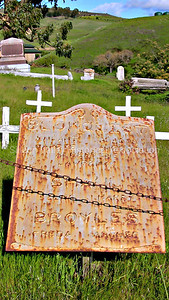 Brokquist and Broyles family plot at St. Anthony Cemetery in Pescadero, California