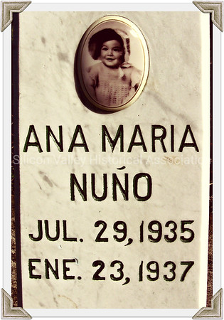 Ana Maria Nuño headstone at the Italian Cemetery in Colma, California