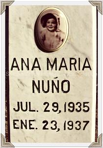 Ana Maria Nuño headstone at the Italian Cemetery in Colma, California