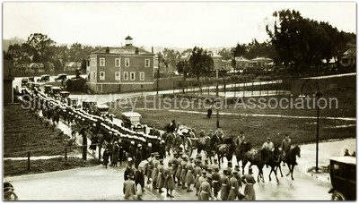 Funeral procession in San Francisco, California at the Presidio - 1917