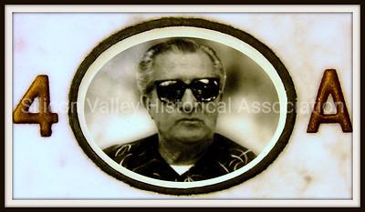 Sam CAracciolo (1914-1999) ceramic photo on a grave at the Santa Clara Mission Cemetery, Santa Clara, California