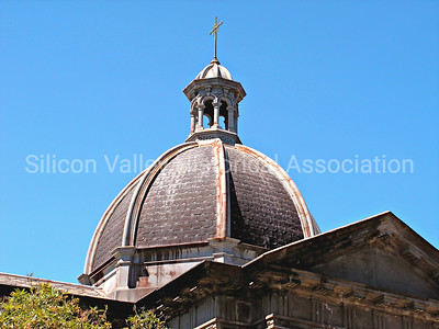 Domed roof of the memorial building at St. John's Cemetery in San Mateo