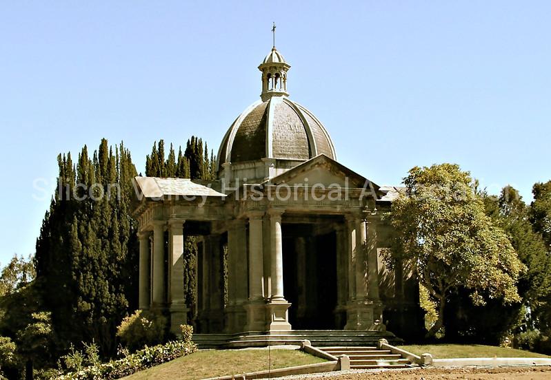 Memorial building at St. John's Cemetery in San Mateo, California