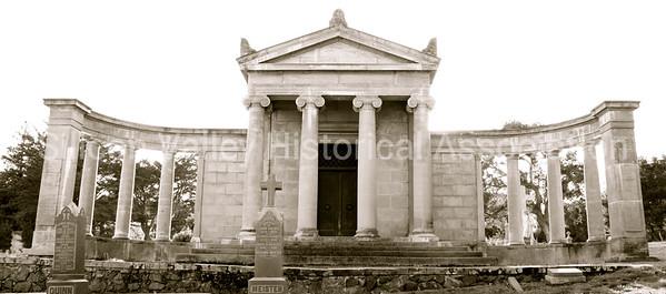 Mausoleum at St. John's Cemetery in San Mateo, California