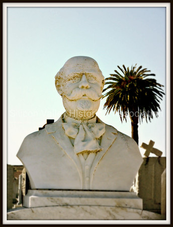 Bust of a Man at the Italian Cemetery in Colma, California