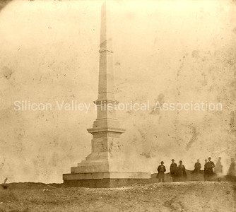 Broderick Monument in the Lone Mt. Cemetery in San Francisco, California c. 1860