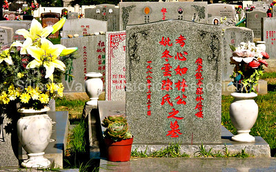 Chinese graves at the Oakhill Memorial Park in San Jose, California