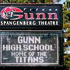 Gunn High School Spangenberg Theatre signage