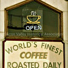 World's Finest Coffee Roasted Daily sign in Redwood City, California