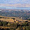Dumbarton Bridge - view from Palo Alto, California