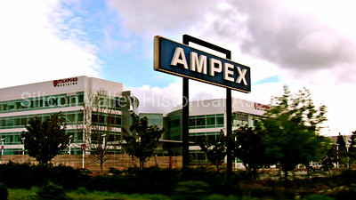 Ampex signage as seen from Highway 101 in Redwood City, California in 2009