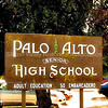 Palo Alto Senior High School signage at Palo Alto High School