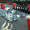 Giant outdoors chess game at Varian in Palo Alto, California