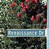 Renaissance Drive Sign in San Jose, California
