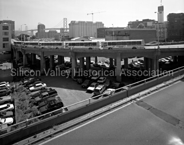 1998 View of Transbay Terminal Bus Loop in San Francisco, California