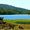Crystal Springs Reservoir as seen from Highway 92 near Half Moon Bay, California