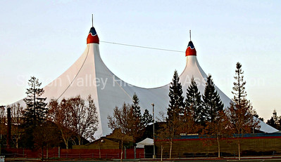 Shoreline Amphitheatre tent in Mountain View, California