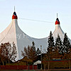 Shoreline Amphitheatre tent in Mountain View, California