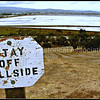 Stay Off Hillside signage at the Bedwell Bayfront Park in Menlo Park, California