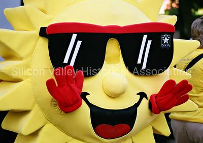 National Seniors Games Association sun mascot in 2009 - downtown Palo Alto