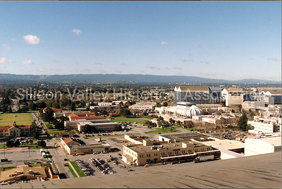 View of Silicon Valley from the top of the Moffett Field Hanger One, 1994