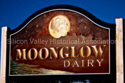 Moonglow Dairy sign in Moss Landing, California