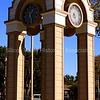 Train station clock in Menlo Park, California