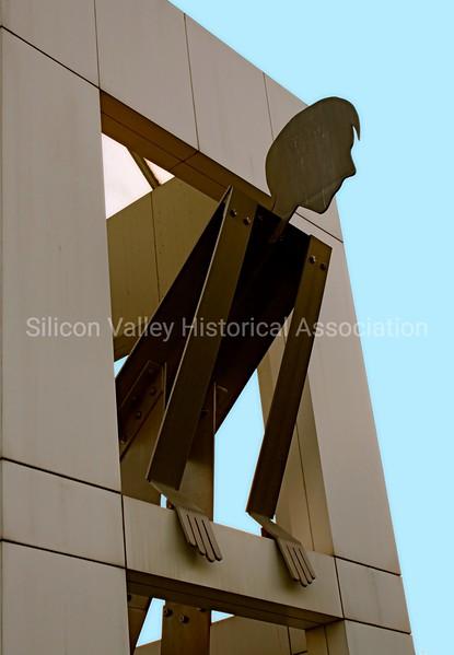 Google Campus metal statue