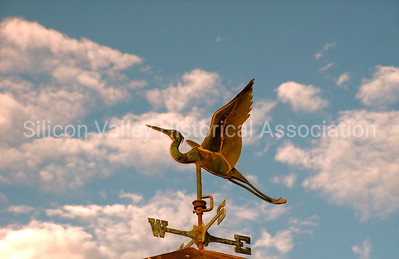 Egret weather vane at the Palo Alto Baylands duck pond