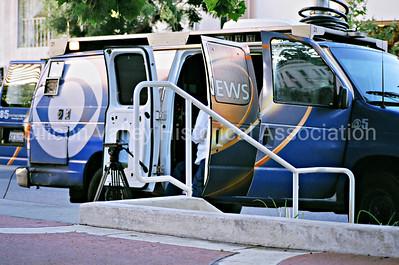 Eyewitness 5 News Van in Palo Alto, California