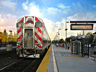 Palo Alto Caltrain Station in Palo Alto, California