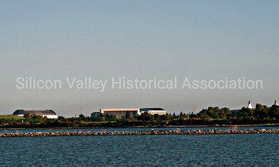 Moffett Field Hangar One, NASA and Shoreline Amphitheatre from the Palo Alto Baylands