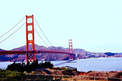 San Francisco Golden Gate Bridge in 1963