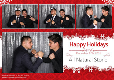 All Natural Stone Holiday Party Cards 2016