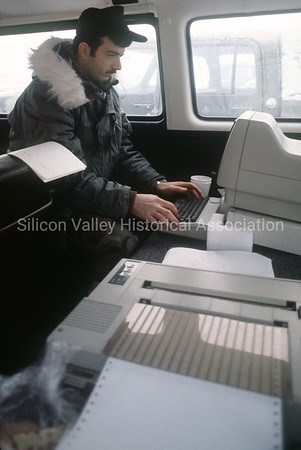 Using a Hewlett-Packard computer in a Volkswagon van in 1982