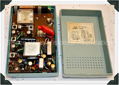The inside of a Super 8 Vista Transistor Radio
