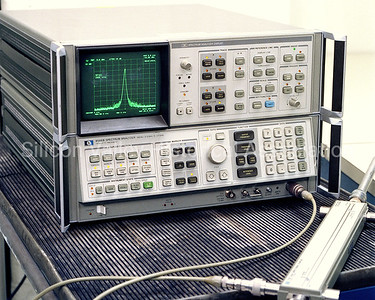 Hewlett-Packard spectrum analyzer in 1982
