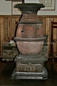 Potbelly heating stove from the 1870s