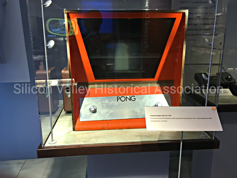 Vintage 1972 PONG game on display at the Computer History Museum in Mountain View, California
